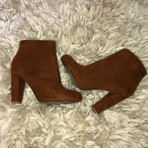 Shoes - Bamboo brown suede booties